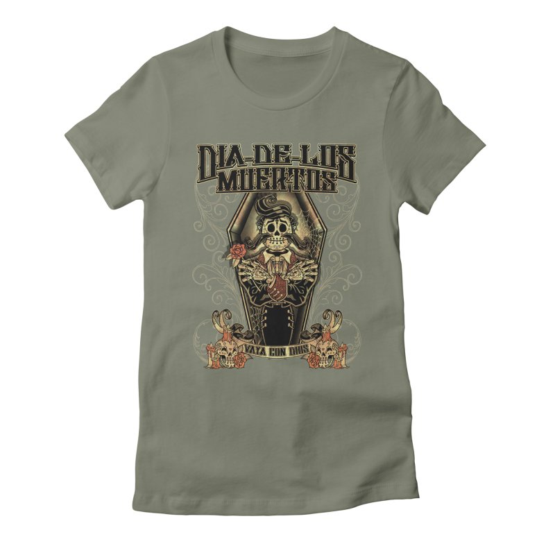 DEAD DAY Women's Fitted T-Shirt by Inkdwell's Artist Shop