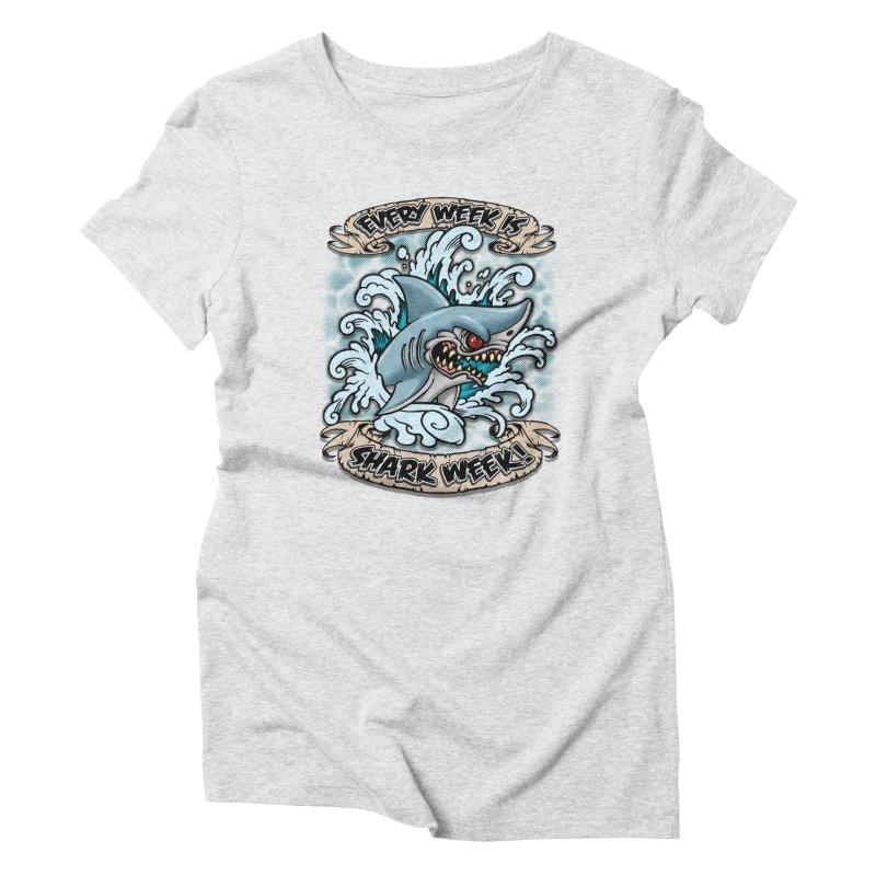 SHARK WEEK! Women's T-Shirt by Inkdwell's Artist Shop