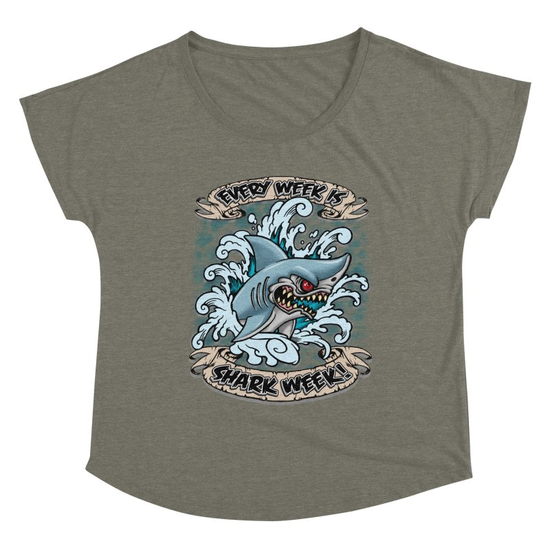 SHARK WEEK! Women's Scoop Neck by Inkdwell's Artist Shop