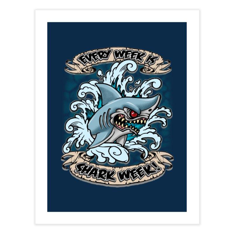 SHARK WEEK! Home Fine Art Print by Inkdwell's Artist Shop