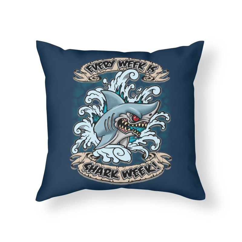 SHARK WEEK! Home Throw Pillow by Inkdwell's Artist Shop