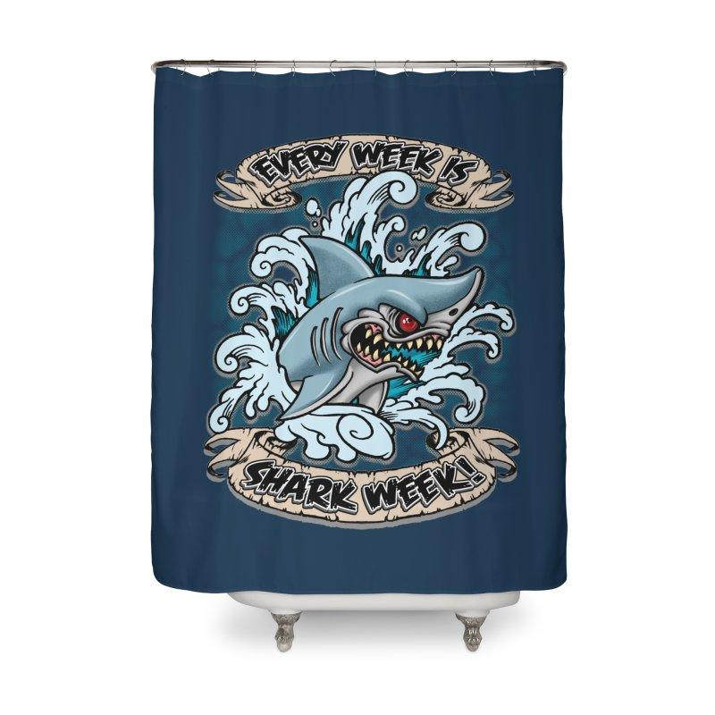 SHARK WEEK! Home Shower Curtain by Inkdwell's Artist Shop