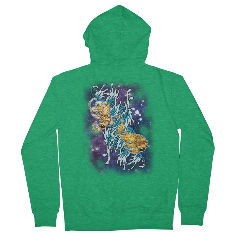 SPACE FISH Women's Zip-Up Hoody by Inkdwell's Artist Shop