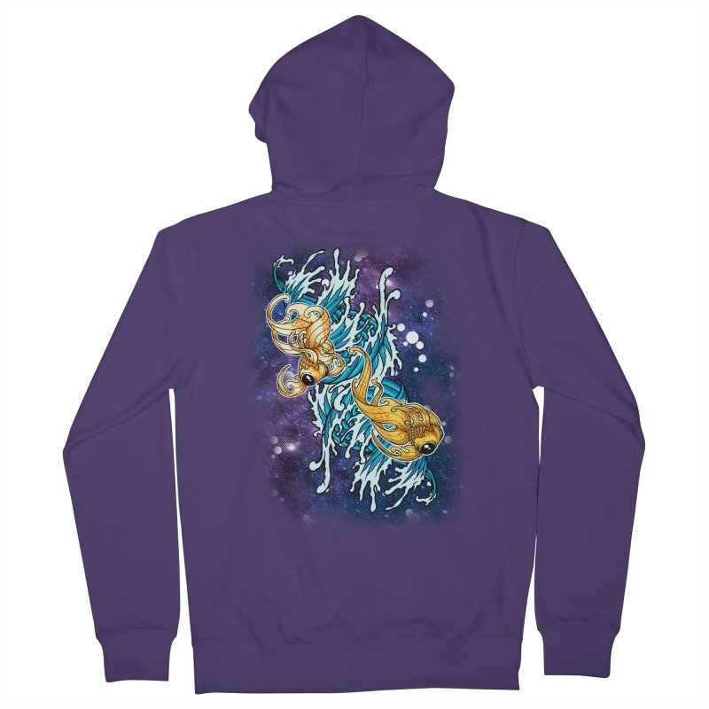 SPACE FISH Women's Zip-Up Hoody by Inkdwell's Artist Shop