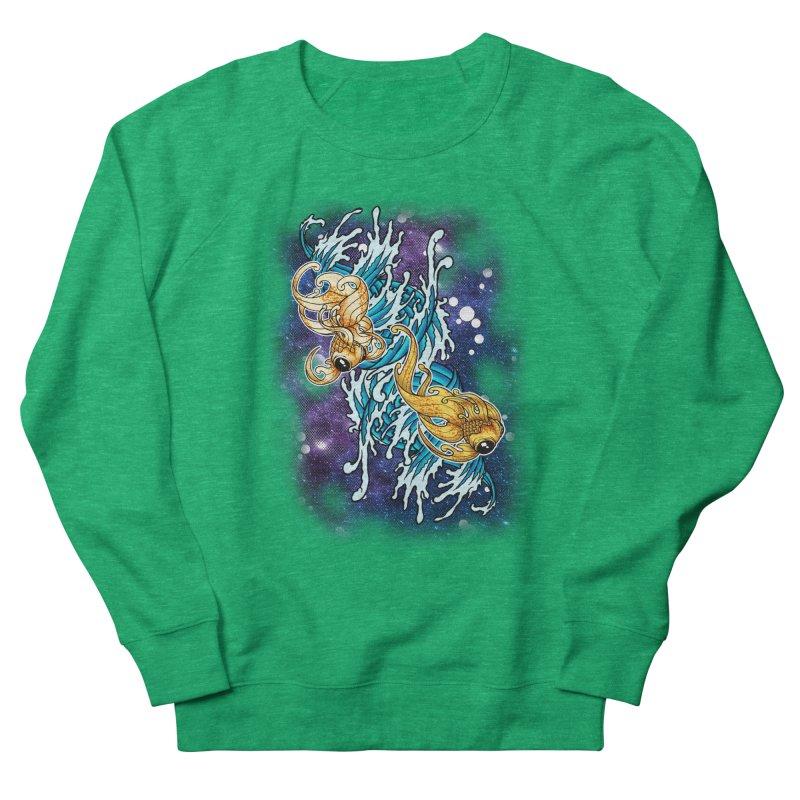 SPACE FISH Women's Sweatshirt by Inkdwell's Artist Shop