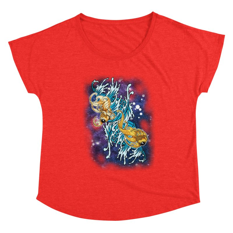 SPACE FISH Women's Scoop Neck by Inkdwell's Artist Shop