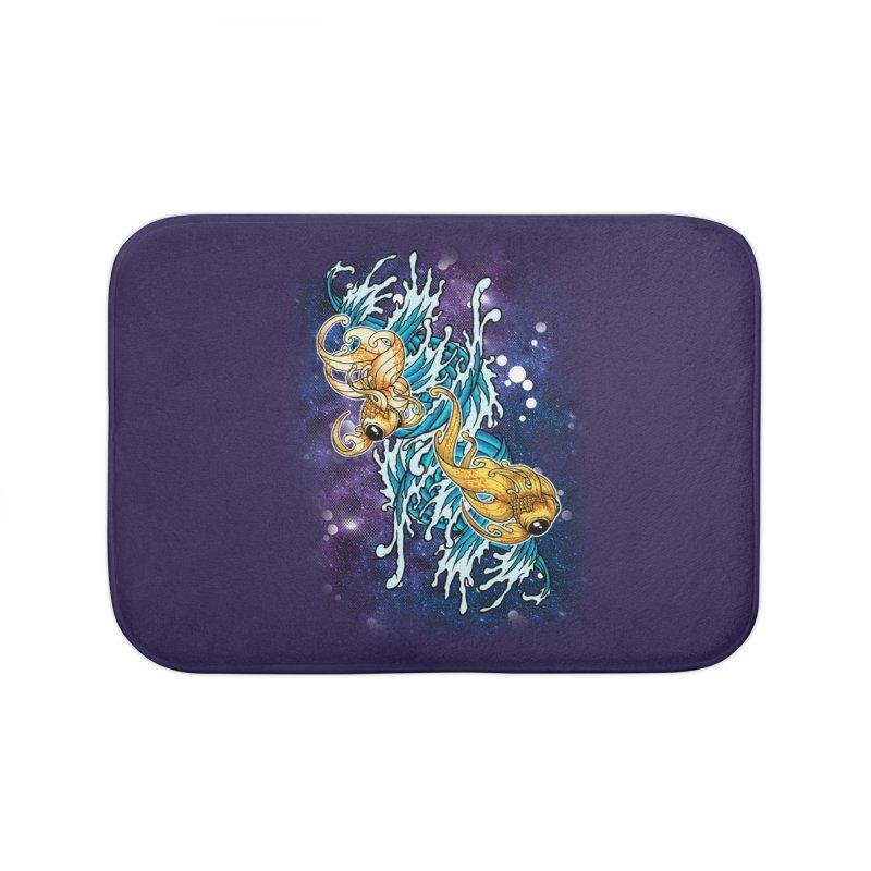 SPACE FISH Home Bath Mat by Inkdwell's Artist Shop