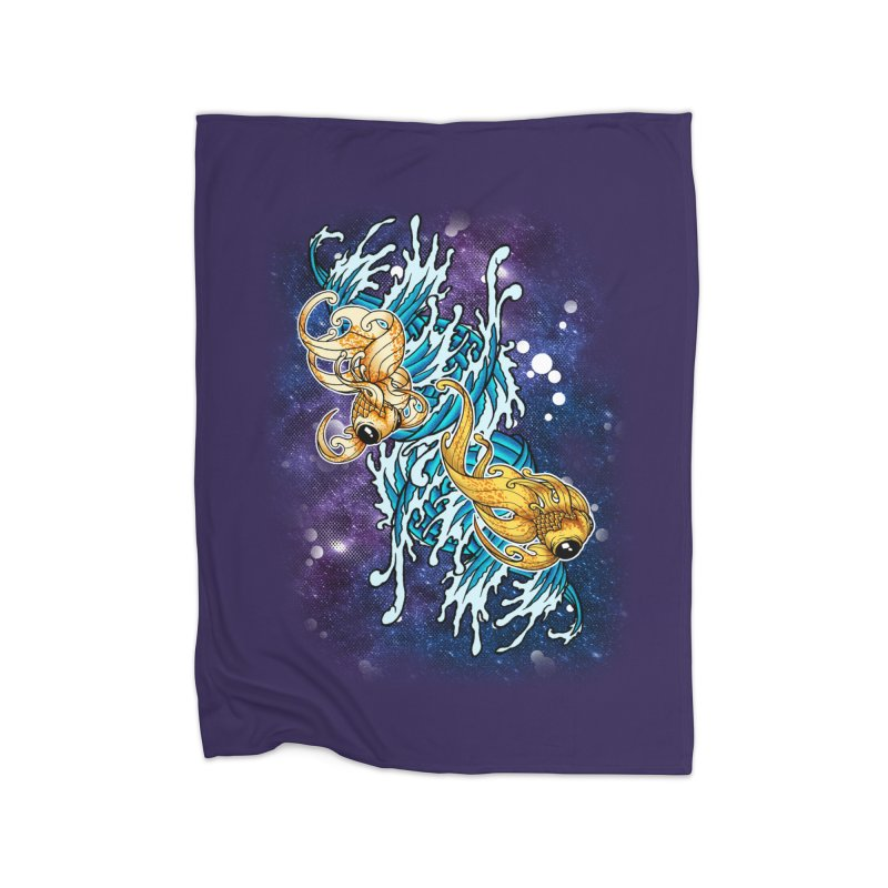 SPACE FISH Home Blanket by Inkdwell's Artist Shop