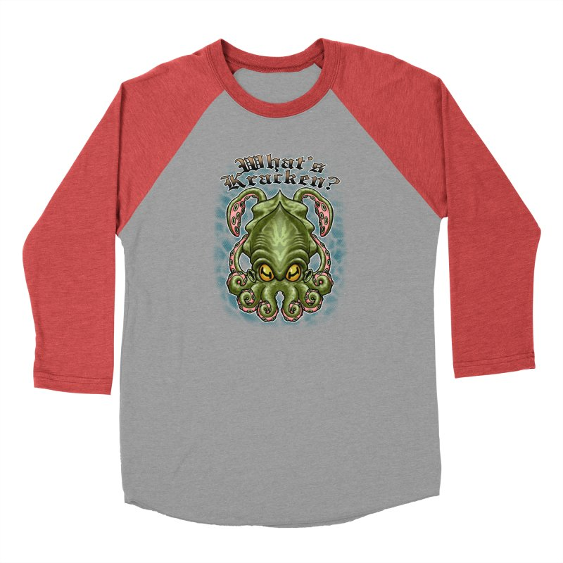 WHAT'S KRACKEN Men's Longsleeve T-Shirt by Inkdwell's Artist Shop
