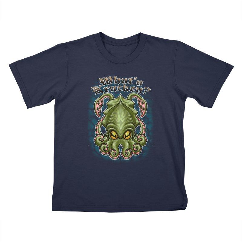 WHAT'S KRACKEN Kids T-Shirt by Inkdwell's Artist Shop
