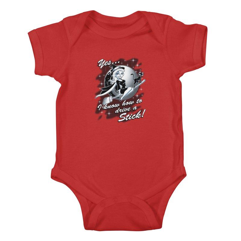 WITCH STICK Kids Baby Bodysuit by Inkdwell's Artist Shop