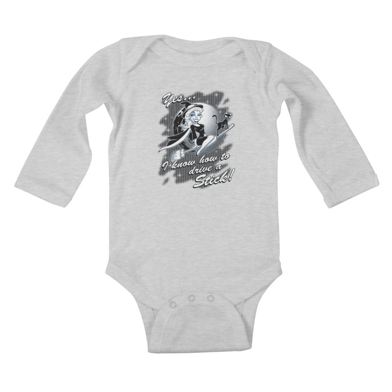 WITCH STICK Kids Baby Longsleeve Bodysuit by Inkdwell's Artist Shop