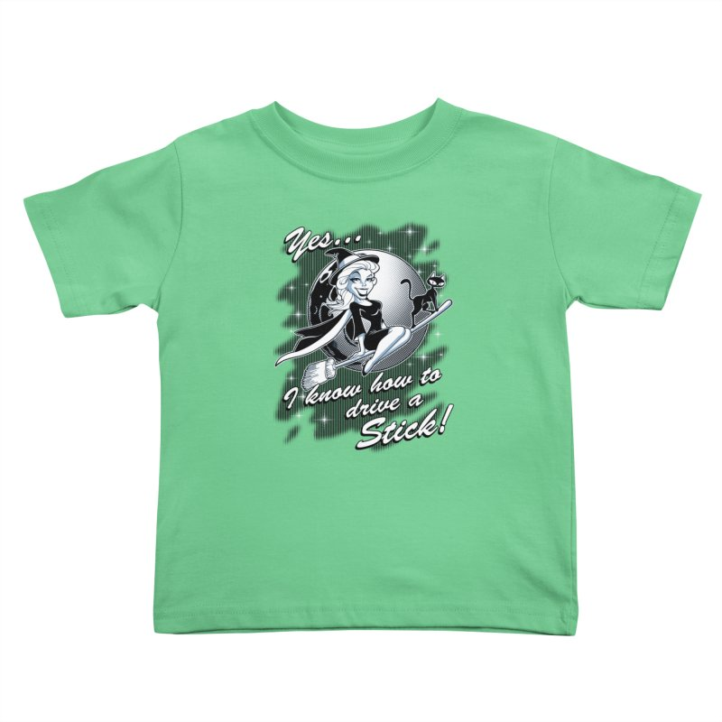 WITCH STICK Kids Toddler T-Shirt by Inkdwell's Artist Shop