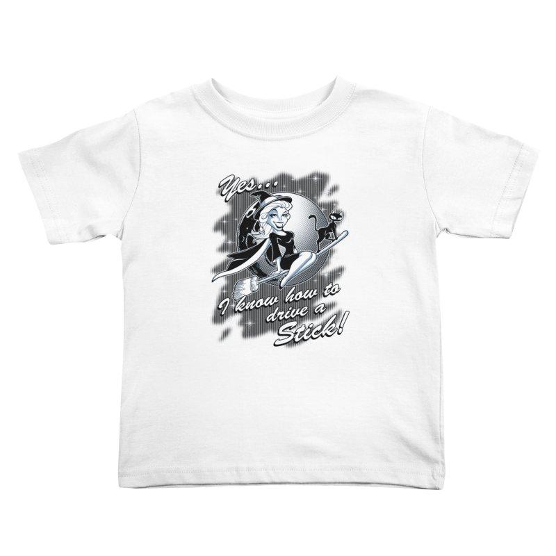 WITCH STICK Kids Toddler T-Shirt by Inkdwell's Artist Shop