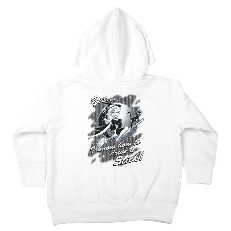 WITCH STICK Kids Toddler Zip-Up Hoody by Inkdwell's Artist Shop