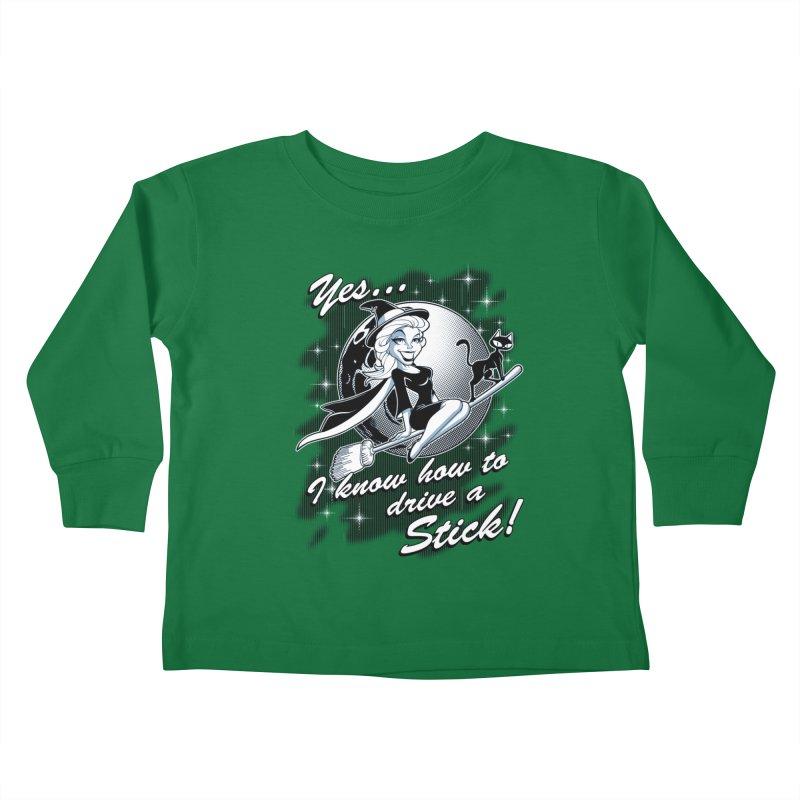 WITCH STICK Kids Toddler Longsleeve T-Shirt by Inkdwell's Artist Shop