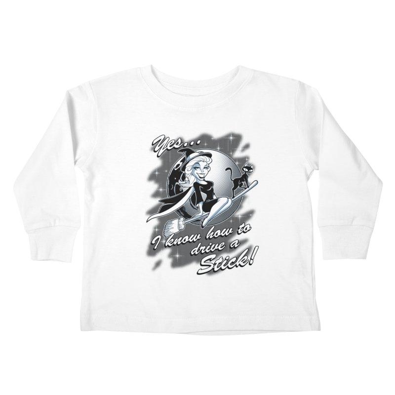 WITCH STICK Kids Toddler Longsleeve T-Shirt by Inkdwell's Artist Shop