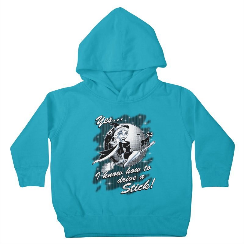 WITCH STICK Kids Toddler Pullover Hoody by Inkdwell's Artist Shop