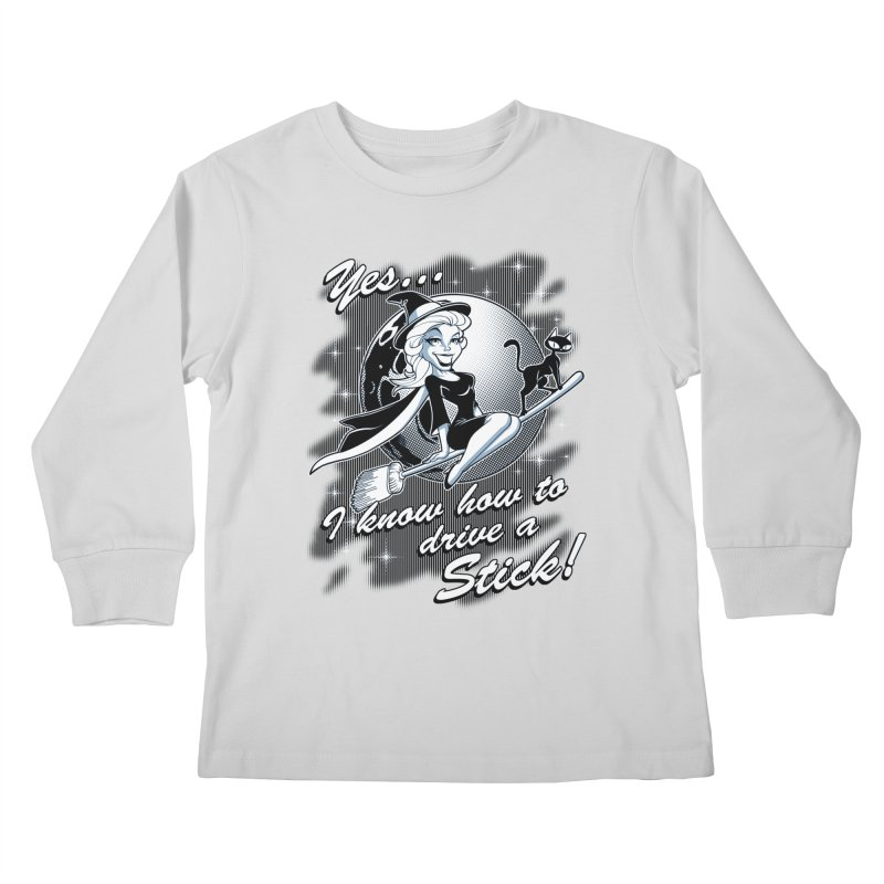 WITCH STICK Kids Longsleeve T-Shirt by Inkdwell's Artist Shop