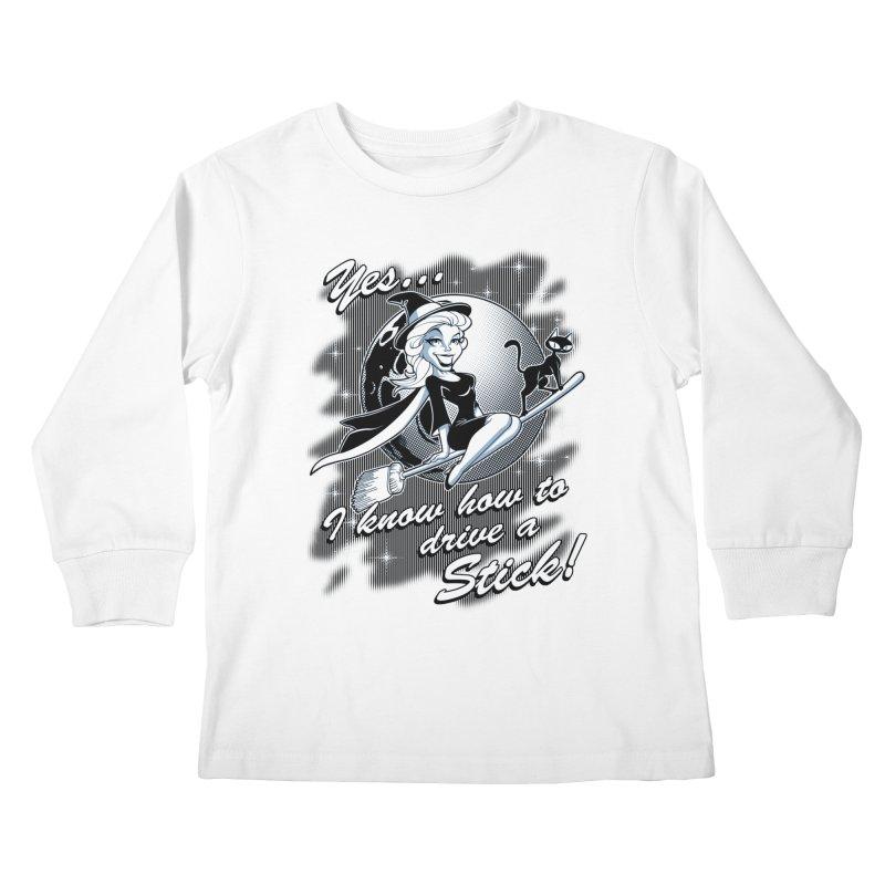 WITCH STICK Kids Longsleeve T-Shirt by Inkdwell's Artist Shop