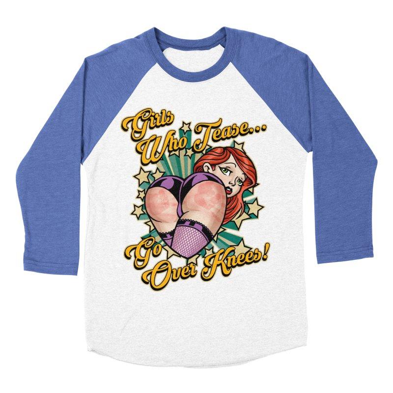 TEASE Women's Baseball Triblend T-Shirt by Inkdwell's Artist Shop