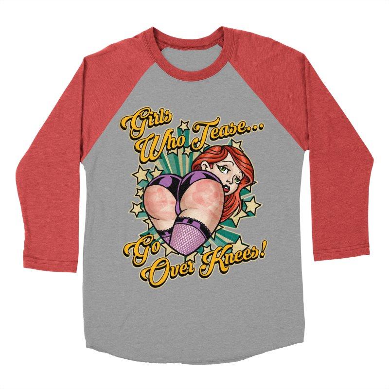 TEASE Men's Baseball Triblend Longsleeve T-Shirt by Inkdwell's Artist Shop