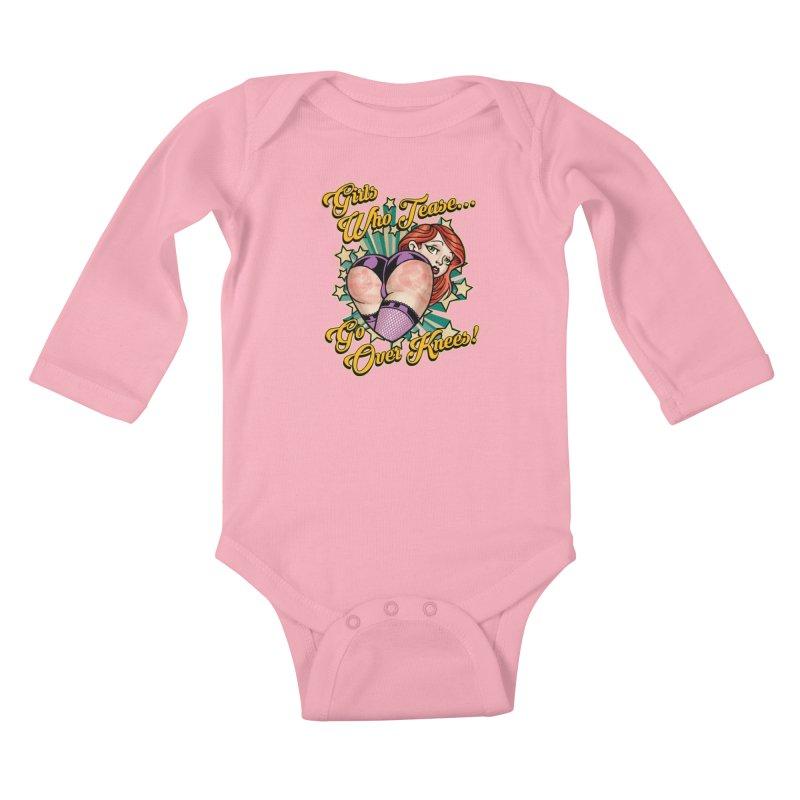 TEASE Kids Baby Longsleeve Bodysuit by Inkdwell's Artist Shop