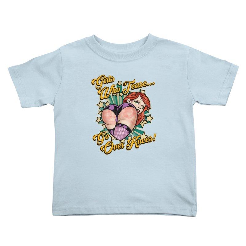 TEASE Kids Toddler T-Shirt by Inkdwell's Artist Shop