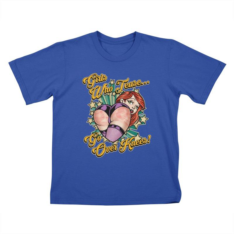 TEASE Kids T-Shirt by Inkdwell's Artist Shop
