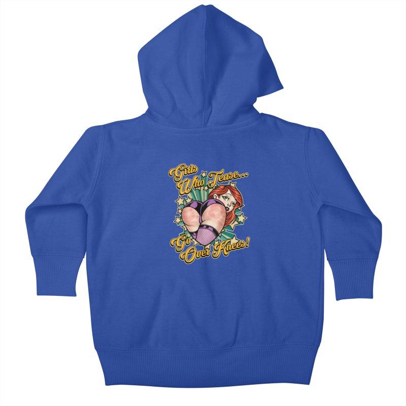 TEASE Kids Baby Zip-Up Hoody by Inkdwell's Artist Shop