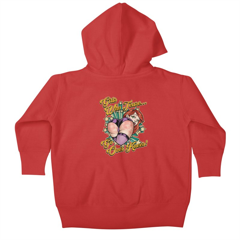 TEASE Kids Baby Zip-Up Hoody by Inkdwell's Artist Shop