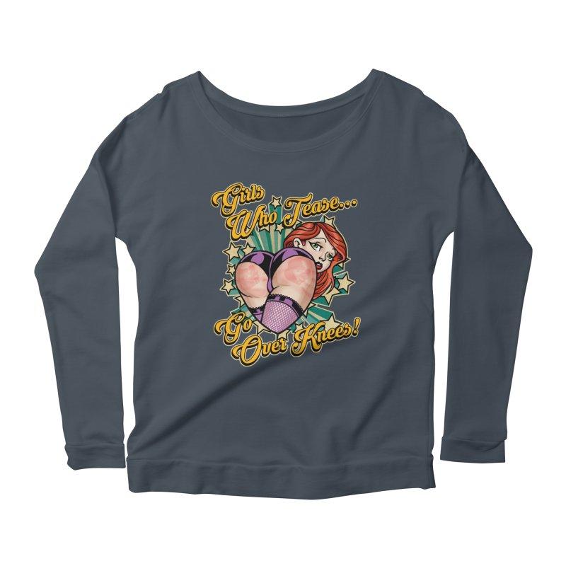TEASE Women's Scoop Neck Longsleeve T-Shirt by Inkdwell's Artist Shop