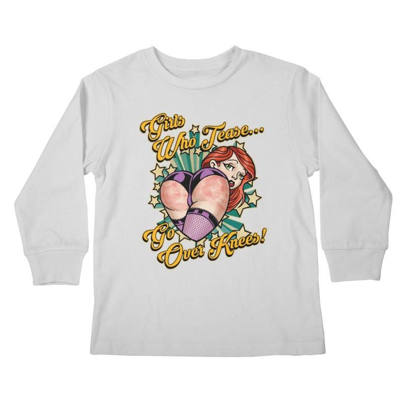 TEASE Kids Longsleeve T-Shirt by Inkdwell's Artist Shop