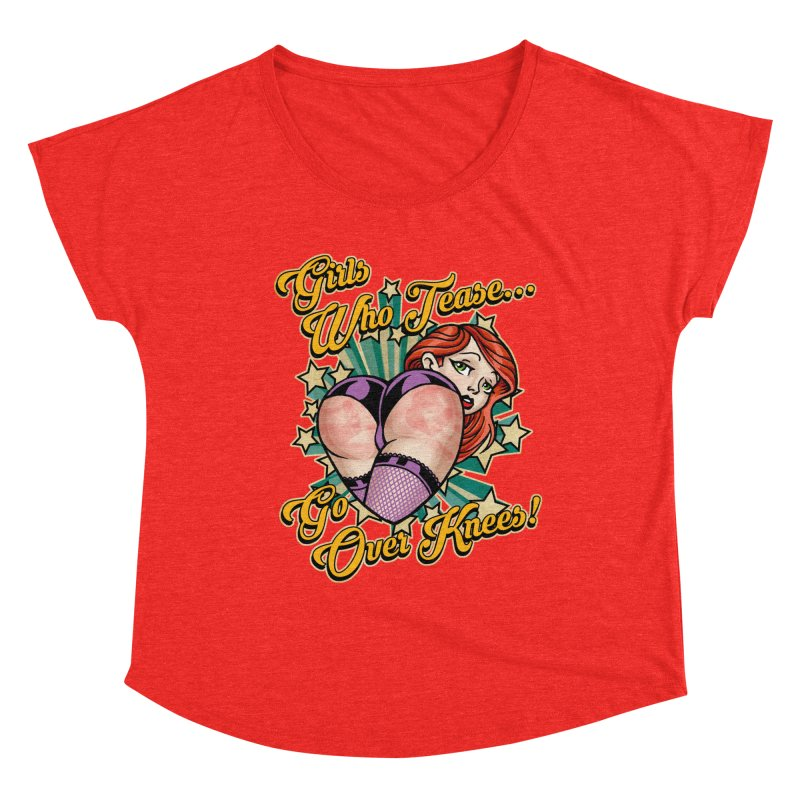 TEASE Women's Scoop Neck by Inkdwell's Artist Shop