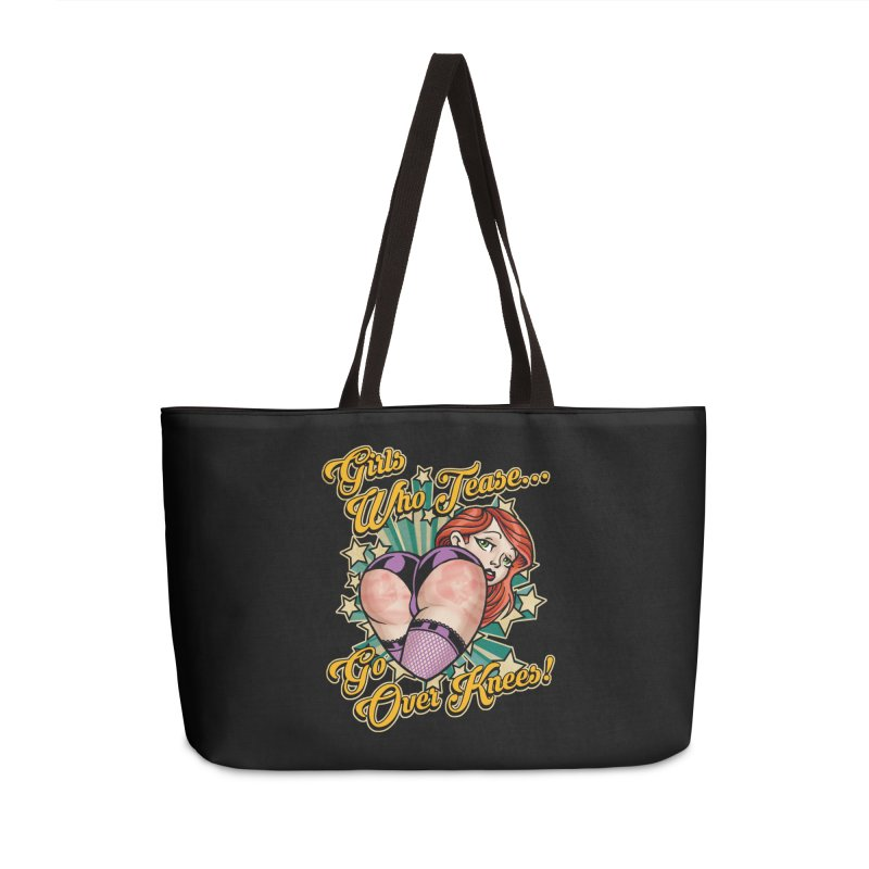 TEASE Accessories Weekender Bag Bag by Inkdwell's Artist Shop