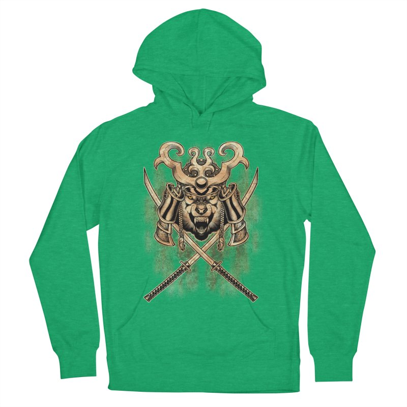 SAMURAI WOLF Women's French Terry Pullover Hoody by Inkdwell's Artist Shop
