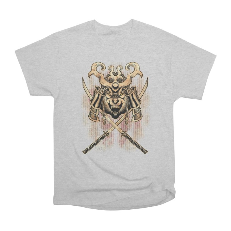 SAMURAI WOLF Women's Heavyweight Unisex T-Shirt by Inkdwell's Artist Shop