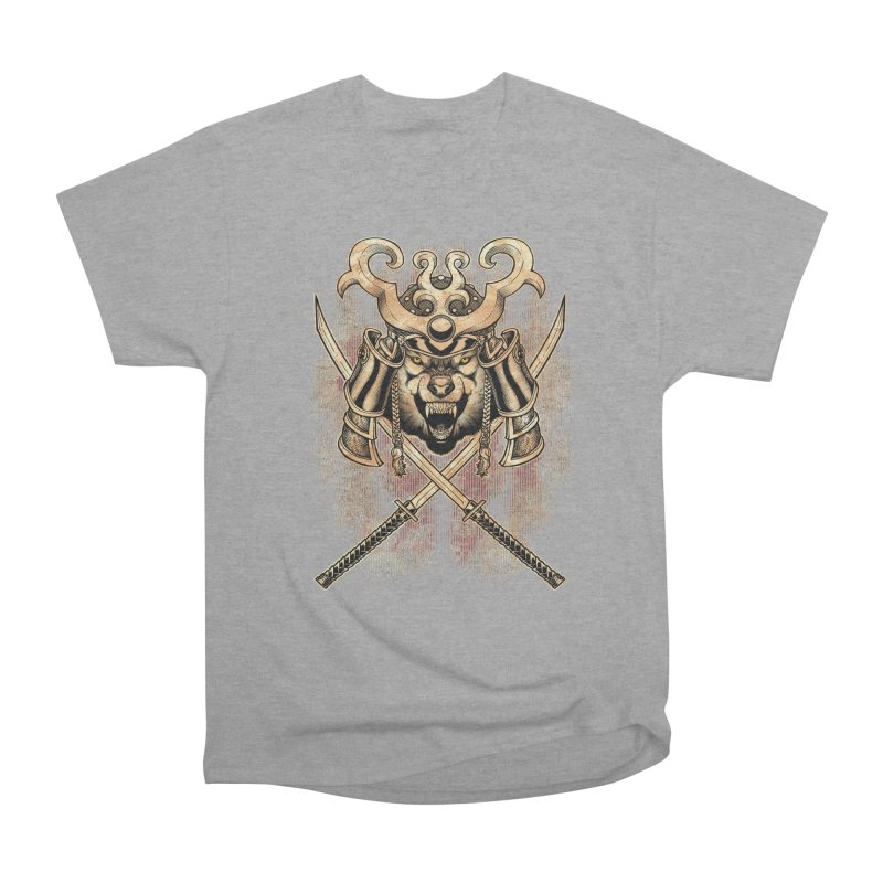 SAMURAI WOLF Men's Heavyweight T-Shirt by Inkdwell's Artist Shop
