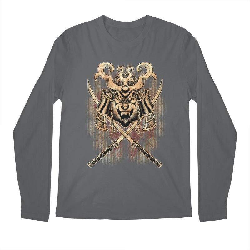 SAMURAI WOLF Men's Regular Longsleeve T-Shirt by Inkdwell's Artist Shop