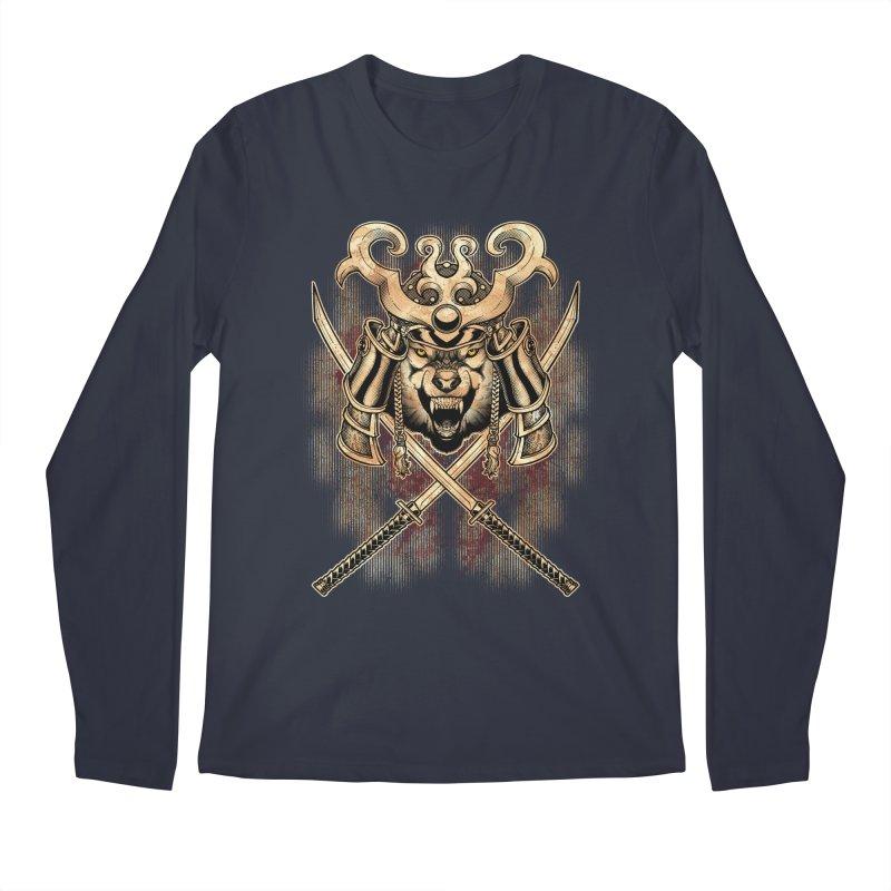 SAMURAI WOLF Men's Longsleeve T-Shirt by Inkdwell's Artist Shop