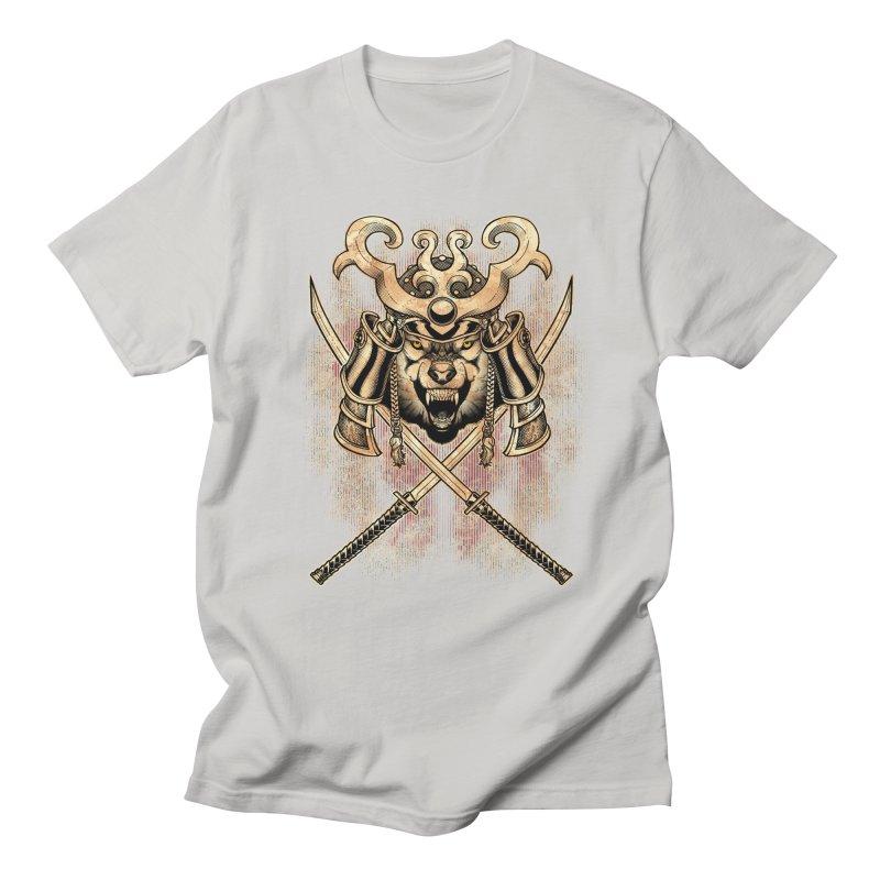SAMURAI WOLF Men's Regular T-Shirt by Inkdwell's Artist Shop