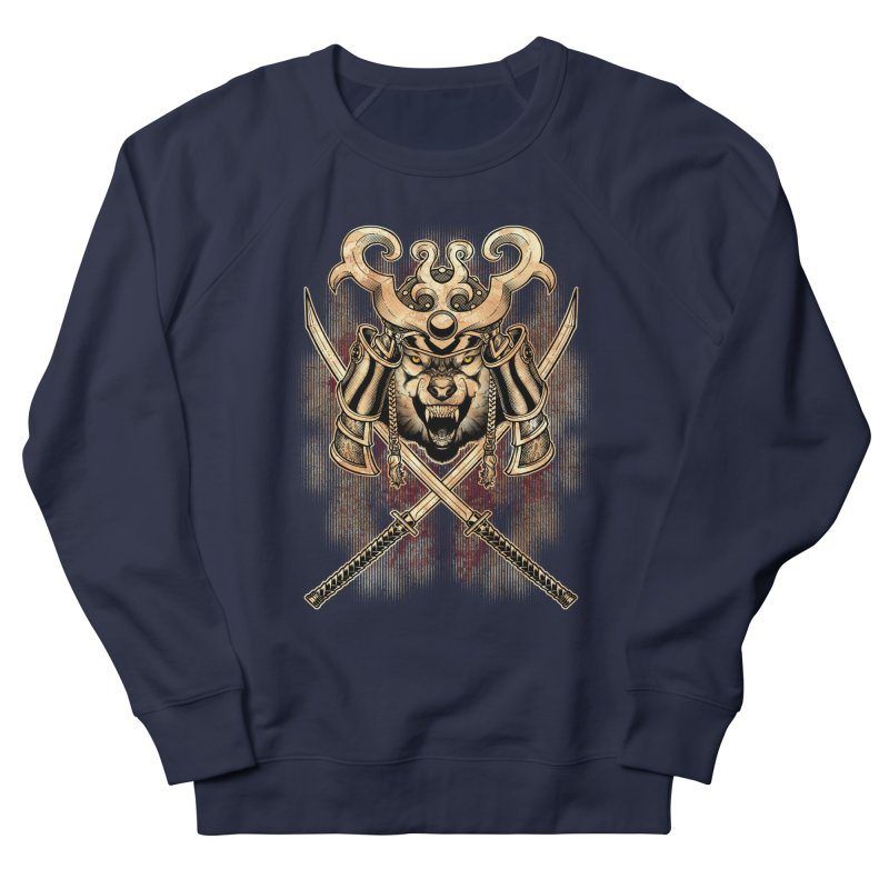 SAMURAI WOLF Women's French Terry Sweatshirt by Inkdwell's Artist Shop
