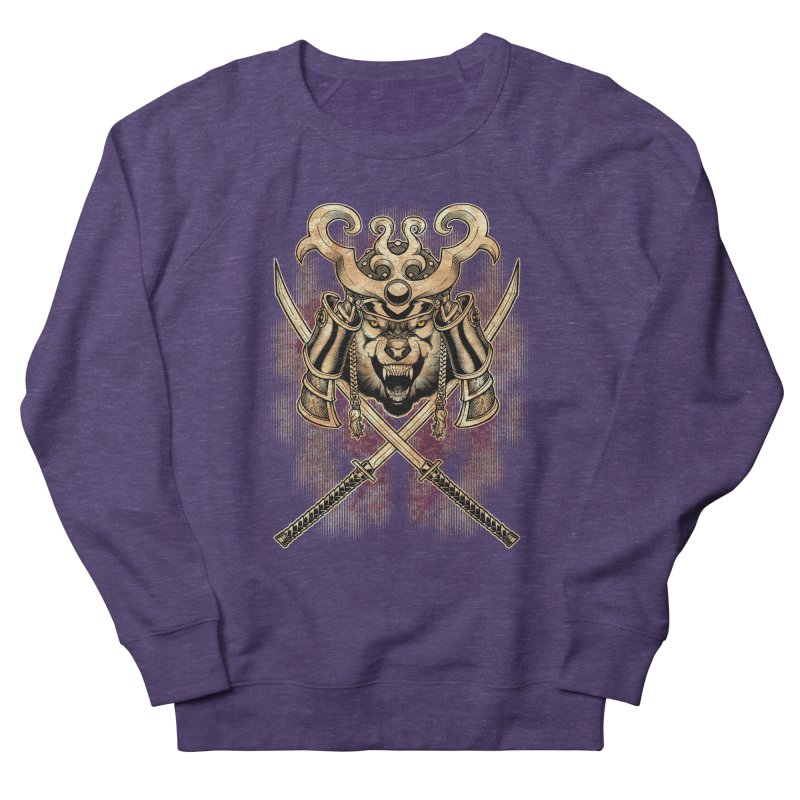 SAMURAI WOLF Men's Sweatshirt by Inkdwell's Artist Shop