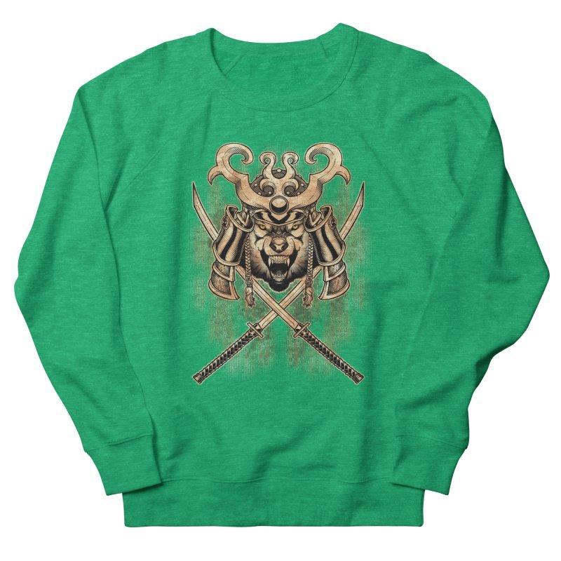 SAMURAI WOLF Men's French Terry Sweatshirt by Inkdwell's Artist Shop