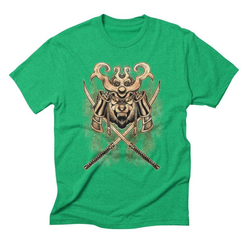 SAMURAI WOLF Men's T-Shirt by Inkdwell's Artist Shop