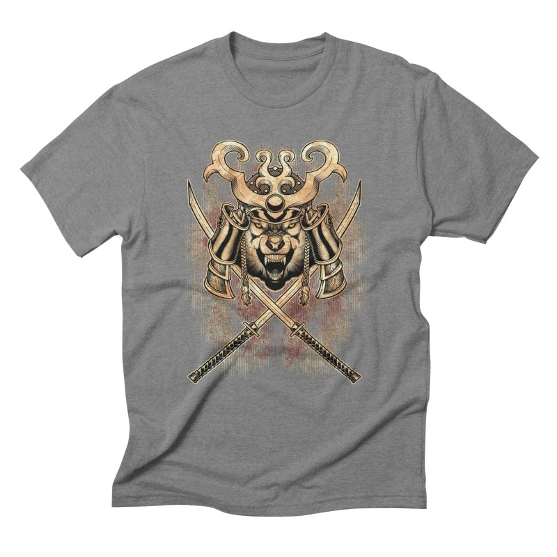 SAMURAI WOLF Men's Triblend T-Shirt by Inkdwell's Artist Shop