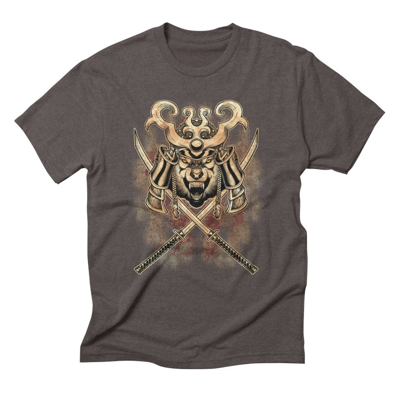 SAMURAI WOLF Men's Triblend T-Shirt by Inkdwell's Artist Shop