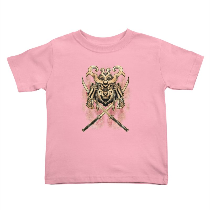SAMURAI WOLF Kids Toddler T-Shirt by Inkdwell's Artist Shop