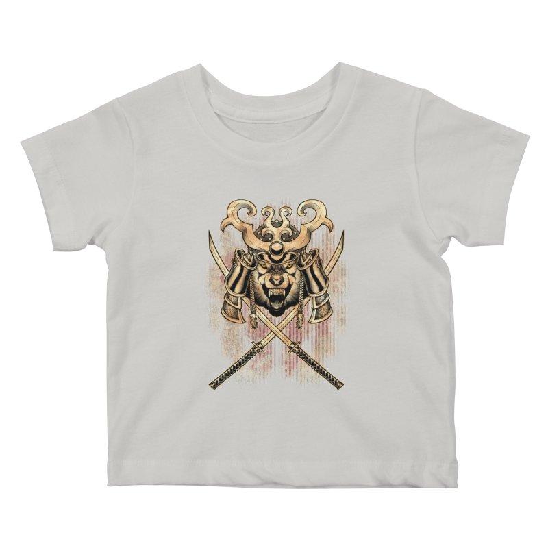 SAMURAI WOLF Kids Baby T-Shirt by Inkdwell's Artist Shop