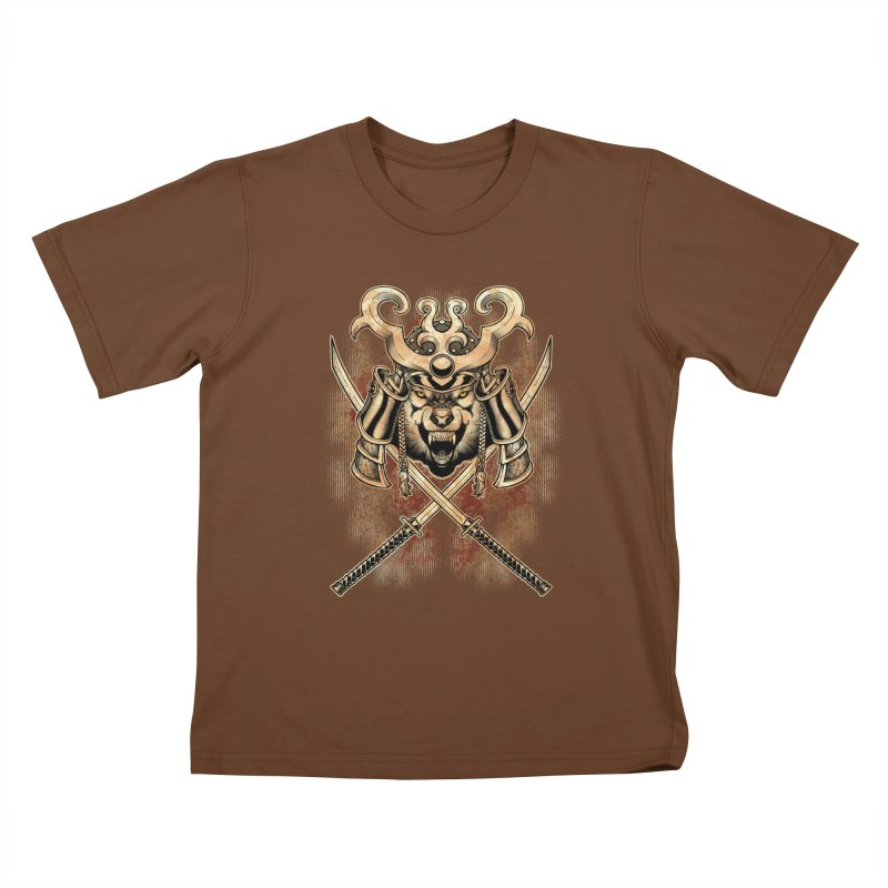 SAMURAI WOLF Kids T-Shirt by Inkdwell's Artist Shop